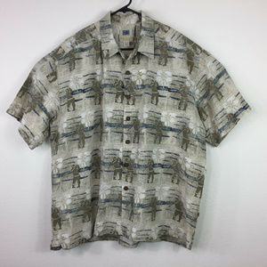 Kahala Hawaiian Casual Short Sleeve Shirt Size 2XL